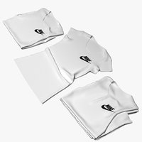 female tshirt 3D model