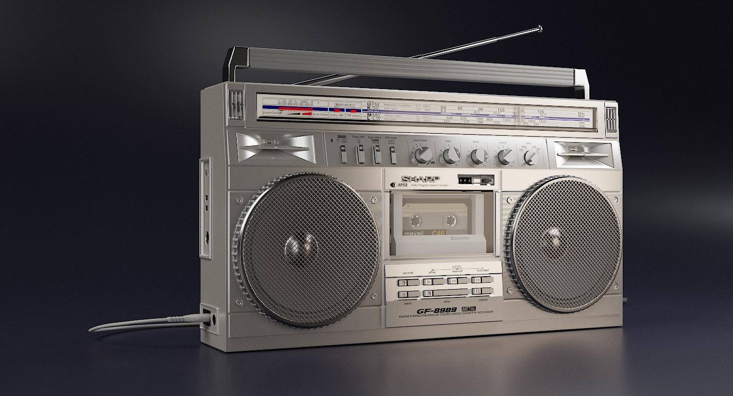 3D sharp radio cassette recorder model