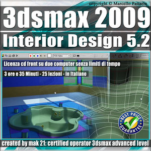 005.2 3ds max 2009 Interior Design v.5.2 Italiano cd front