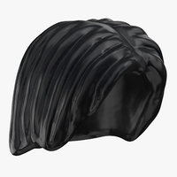 lego hair 01 black 3D