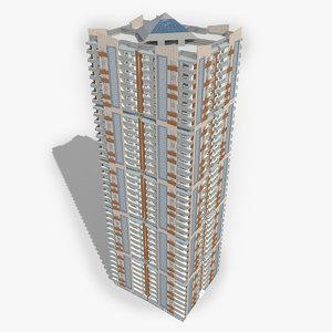 3D modern skyscraper building