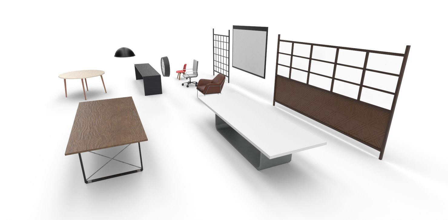 office pack interiores 3D