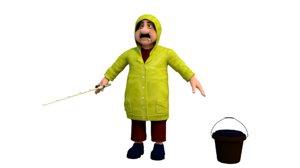 fisherman character model