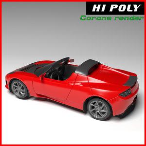 3D tesla roadster model
