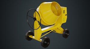 concrete mixer 1a 3D model