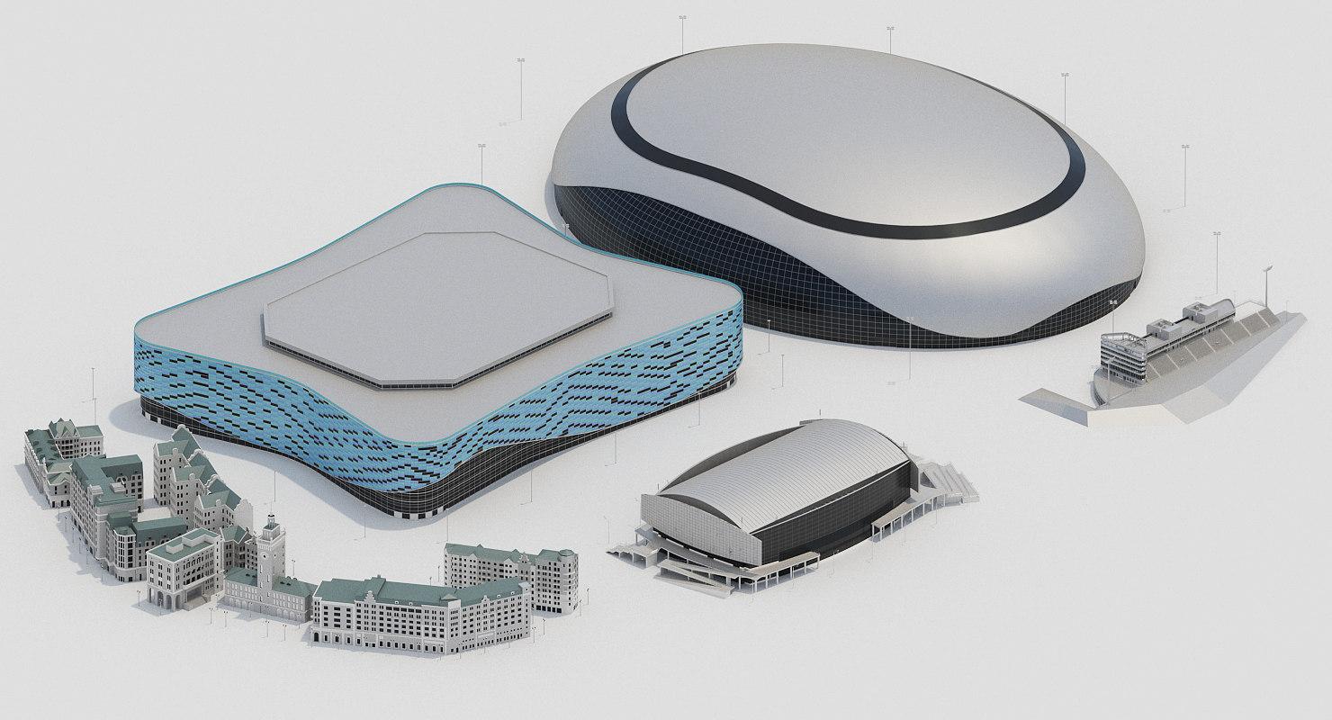 3D model sochi olympics ice
