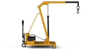 3D hydraulic crane