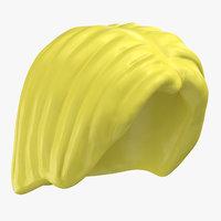 lego hair 01 blond 3D