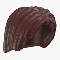 3D lego hair 01 dark brown