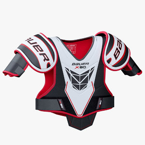 hockey shoulder pad bauer 3D model