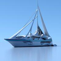Futuristic Yacht 01
