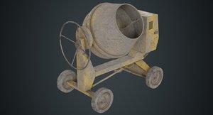 3D concrete mixer 1b