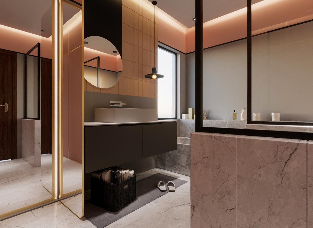 Cozy Bathroom 3D Model