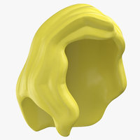 lego hair 02 blond 3D model