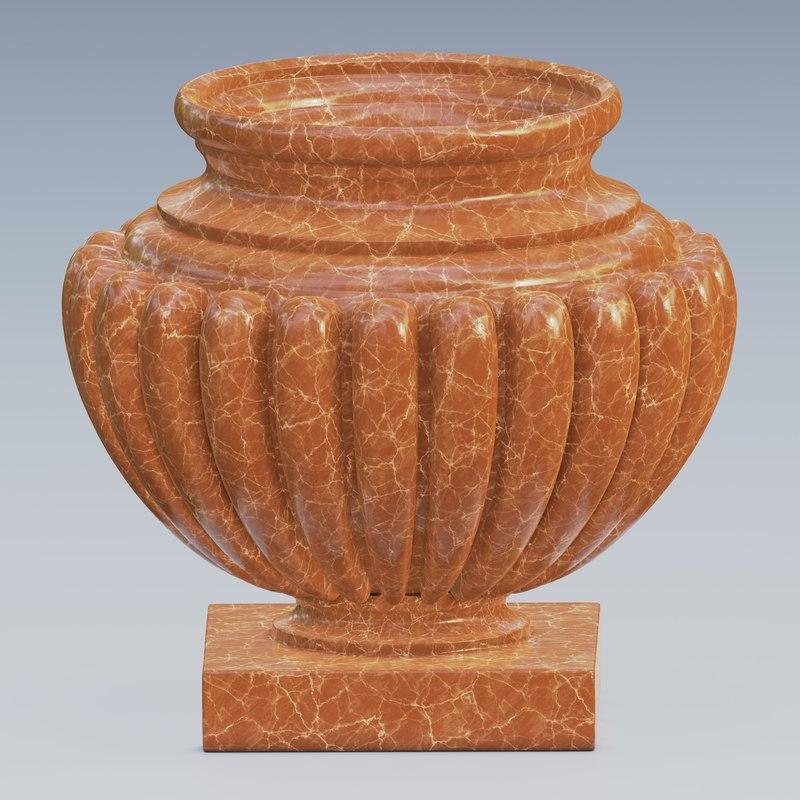 urn marble concrete model