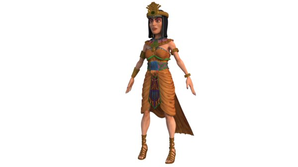 3D egypt queen character model