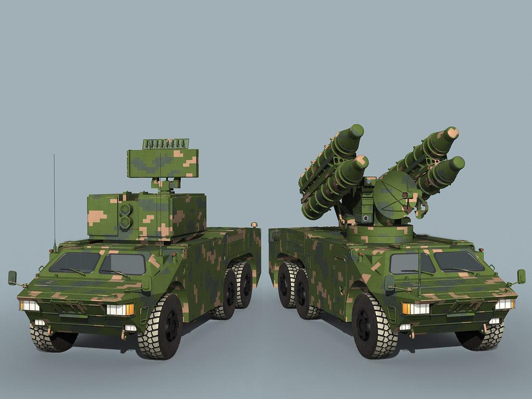 chinese hq-7b battery 3D model