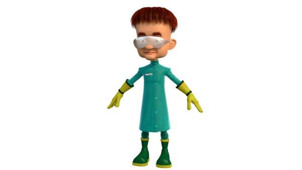 professor character 3D