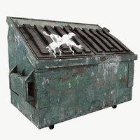 3D model trash old