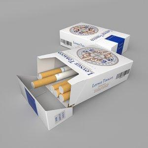 box cigarettes 3D