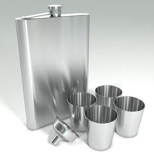 3D pocket flask