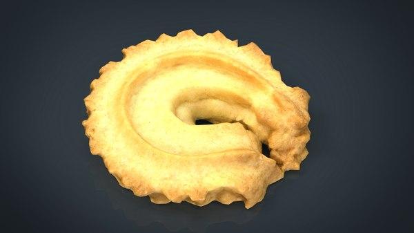 danish butter cookie 1 3D model