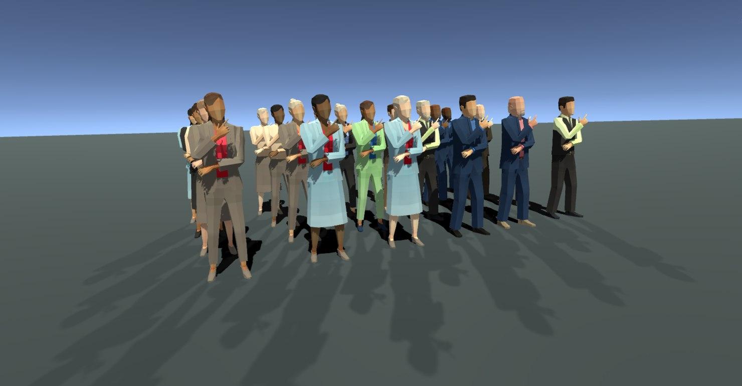 business office suit 3D model