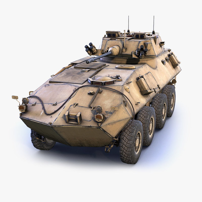3D low-poly light armored vehicle