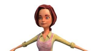 3D women character model