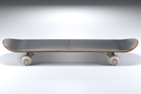 skateboard shape truck 3D model