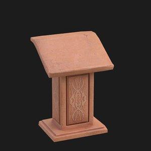 3D pulpit model