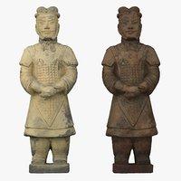 3D terracotta army warrior model