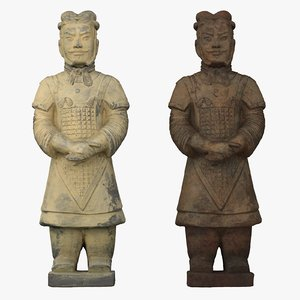 3D terracotta army warrior model