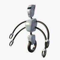 3D model robot arms
