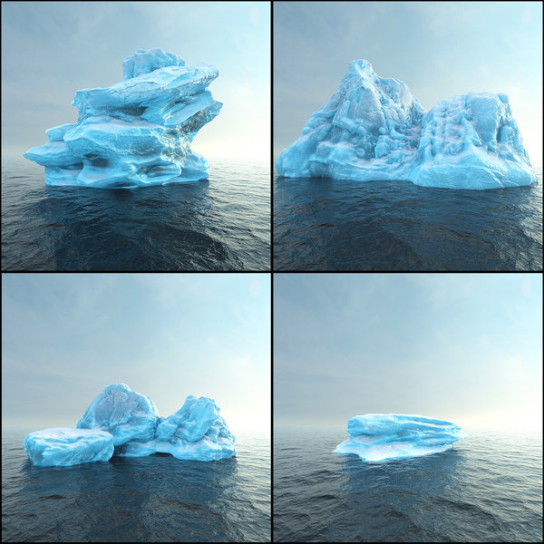 photorealistic render ready iceberg 3D model
