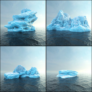 photorealistic render ready iceberg 3D model