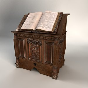 gothic book stand 3D