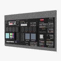 3D tv dashboard model
