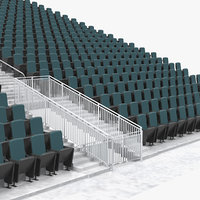 tribunes bleachers 3D