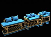 couch anderson amber 3D