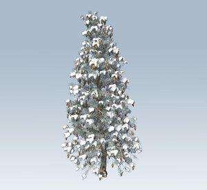 3D model tree winter spruce