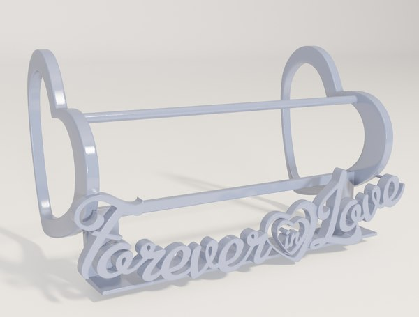 3D forever love - decorative model