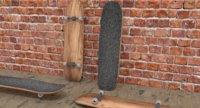 simple skateboard 3D model