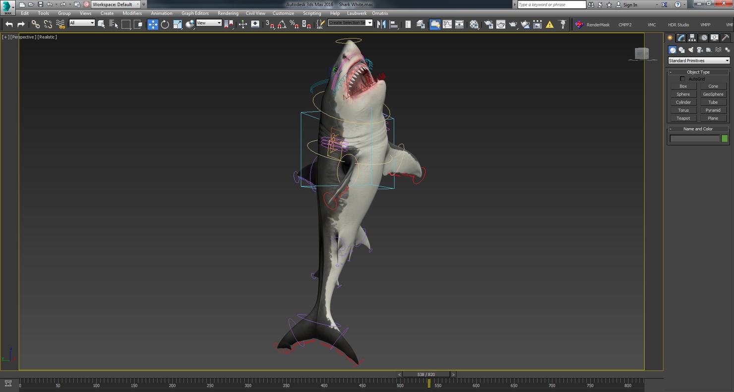 rigged animation model
