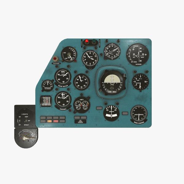 3D model left panels board mi-8mt