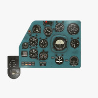 3D model left panels board mi-8mt