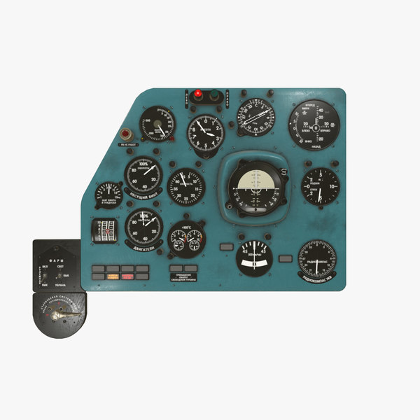 3D left panels board mi-8mt model