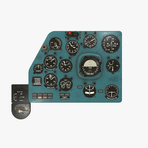3D left panels board mi-8mt model