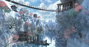 fantasy asia 3D