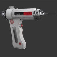 3D sci-fi injector model